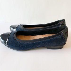 Clarks Neenah Garden Flats Shoes NWT Navy Size 12
